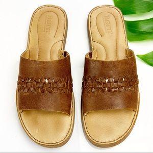 Born Sandal Slide St Francis British Tan Leather